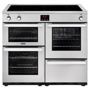 Belling Cookcentre 100EIPROFSTA 100cm Electric Induction Range Cooker-Professional Stainless Steel