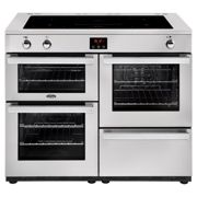 Belling Cookcentre 110EIPROFSTA 110cm Electric Induction Range Cooker-Professional Stainless Steel