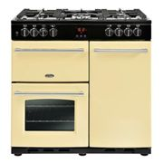 Belling Farmhouse FH90DFTCR 90cm Dual Fuel Range Cooker-Cream