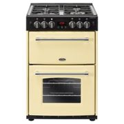 Belling 444444716 60cm Gas Double Oven Freestanding Cooker