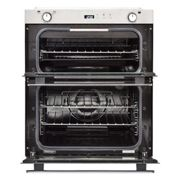 Belling BI702GSTA 70cm Built-Under Gas Double Oven-Stainless Steel