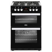 Belling Cookcentre 60DF Black Dual Fuel Cooker with Double Oven