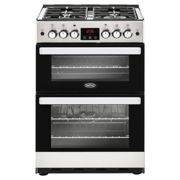 Belling Cookcentre 60G Stainless Steel Gas Cooker with Double Oven