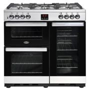 Belling Cookcentre 90DFT 90cm Dual Fuel Range Cooker - Stainless steel