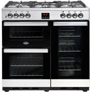 Belling Cookcentre90G 90cm Gas Range Cooker with Electric Fan Oven - Stainless Steel - B/A Rated