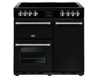 Belling Farmhouse FH90EBK 90cm Electric Ceramic Range Cooker-Black