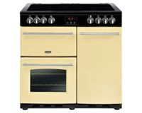 Belling Farmhouse FH90ECR 90cm Electric Ceramic Range Cooker-Cream