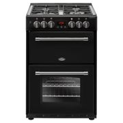 Belling Farmhouse FH60DFTBK 60cm Dual Fuel Mini Range Cooker-Black