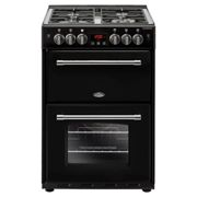 Belling Farmhouse 60G Black Gas Cooker with Double Oven