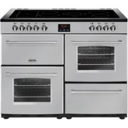Belling Farmhouse110E 110cm Electric Range Cooker with Ceramic Hob - Silver - A/A Rated