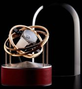 Bernard Favre Watch Winder Planet Double Axis Red Leather Base BNFV-020