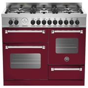 Bertazzoni Master Series MAS100-6-MFE-T-VIE 100cm Dual Fuel Range Cooker - Burgundy - A/A Rated