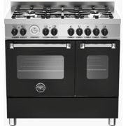 Bertazzoni MAS90-5-MFE-D-NEE Master Series 90cm Dual Fuel Range Cooker With A Double Oven-Matt Black