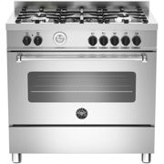 Bertazzoni Master Series MAS90-5-MFE-S-XE 90cm Dual Fuel Range Cooker - Stainless Steel - A Rated