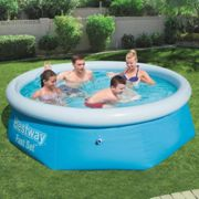 Bestway Fast Set Inflatable Swimming Pool Round Garden Summer Water Centre