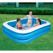 """Bestway Inflatable Family Swimming Paddling Pool Rectangular 79""""x59""""x20"""" - Blue"""