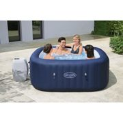"""BestWay Lay-Z-Spa 71""""x71""""x28"""" Hawaii AirJet Inflatable Hot Tub with Heater Cover"""