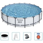 Bestway Steel Pro MAX Swimming Pool Set Above Ground Family Pool Home Garden