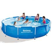 Bestway Steel Pro Swimming Pool - 12ft | Round Above Ground Pool