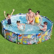 Bestway Swimming Pool Frame 305x66cm Above Ground Outdoor Family Fun Kids