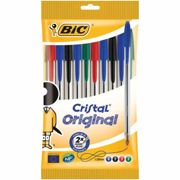 BiC Cristal Original Ball Point Pen Pack of 10, Assorted