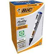 BIC Marking 2000 Permanent Marker Medium Bullet Blue Pack of 12