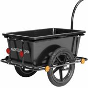 Bike Cargo Trailer Black 90L with Coupling