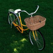 Bike Front Basket with Cover 50x45x35 cm Natural Willow