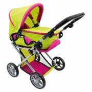 Bino stroller for dolls with bag green