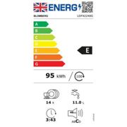 Blomberg LDF42240G 60cm Dishwasher in Graphite 14 Place Set A 3yr Gtee