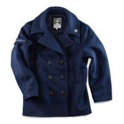 Boardwalk Peacoat | &SONS | Mens Navy Peacoat | Double-Breasted Coat M