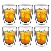 Bodum - Pilatus Drinking Glass 0.25l (set of 6), double-walled