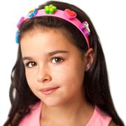 boppiband - Pink/Yellow Headband with 6 boppi Charms
