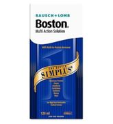 Boston Multi Action Solution Simplus (120ml), Contact Lens Solution For Use With Hard And Gas Permeable Lenses Only, Case Included