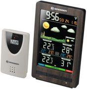 BRESSER ClimaTemp WS Weather Station with Colour Display in wooden Design
