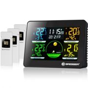 BRESSER Ther Hygro Quadro NLX Thermo Hygrometer with 3 outdoor sensors