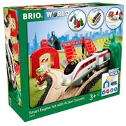 Brio World Smart Tech Railway Engine Set with Action Tunnels