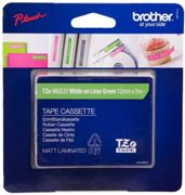 Brother TZ-MQG35 tape white on green (apple) Original TZe-MQG35