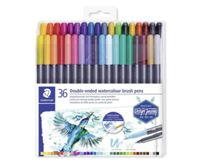 Brush Pens marsgraphic Duo Set, 36 Colors, 0.5-0.8 / 1.0 To 6.0mm, Two-sided, Staedtler, 3001 Tb36