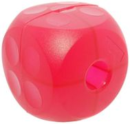 Buster Cube Mini Cube Dog Toy - Soft Magenta Red - 13cm