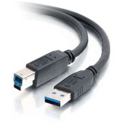 C2G SuperSpeed 6.6FT USB Type-A Male to USB Type-B Male Cable - Black