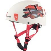 Camp Armour White - Red, Size 50 - 57 cm - Unisex Climbing Helmet, Color White