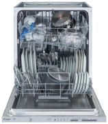 Candy Cdi1Ls38 Full Size 13-Place Integrated Smart Touch Dishwasher - White/Silver - Dishwasher Only White/Silver