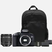 Canon EOS 850D + EF-S 18-55mm IS STM Lens + Backpack + SD Card + Spare Battery
