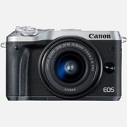 Canon EOS M6 Silver + EF-M 15-45mm IS STM Lens