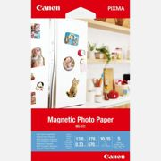 """Canon MG-101 Magnetic Photo Paper, 4x6"""", 5 sheets"""