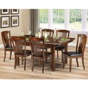 Canterbury Extending Dining Set In Mahogany With 6 Chairs