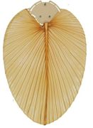 CasaFan ceiling fan blade set bamboo / palm / cane Palm tree natural