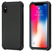 Case Pitaka MagCase PRO ARAMID CARBON FIBER for Apple iPhone X - BLACK - KI8001XP