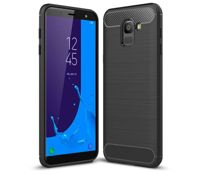 Case TECH PROTECT CARBON for Samsung Galaxy J6 2018 - BLACK